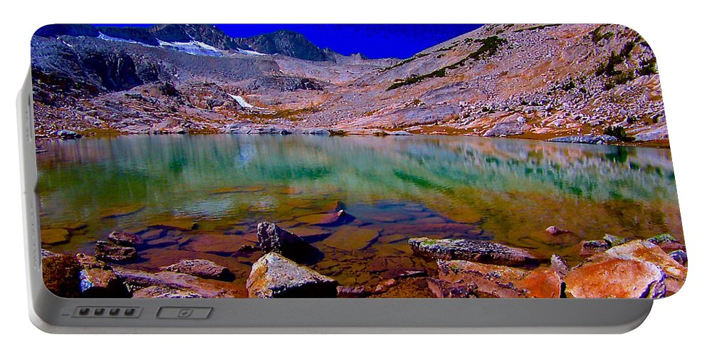 That Is The Glacier Up There Portable Battery Charger featuring the photograph That Is The Glacier Up There by Scott L Holtslander