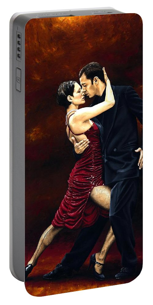 Tango Portable Battery Charger featuring the painting That Tango Moment by Richard Young