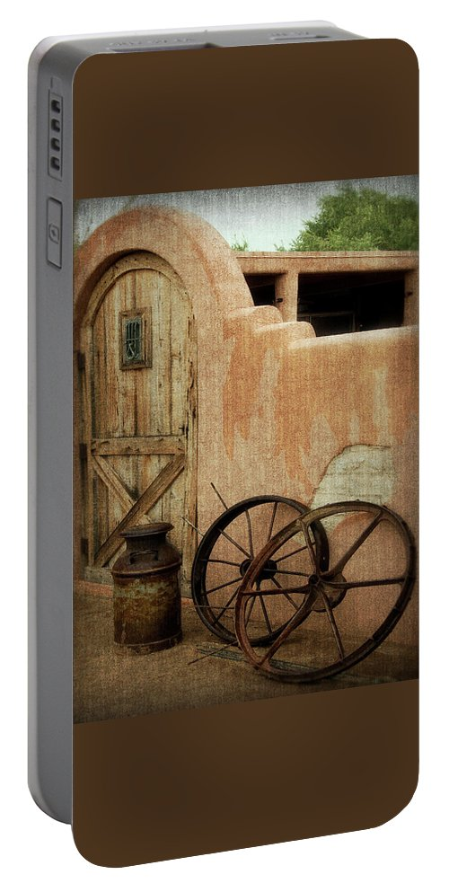 Door Portable Battery Charger featuring the photograph The Western Style by Lucinda Walter