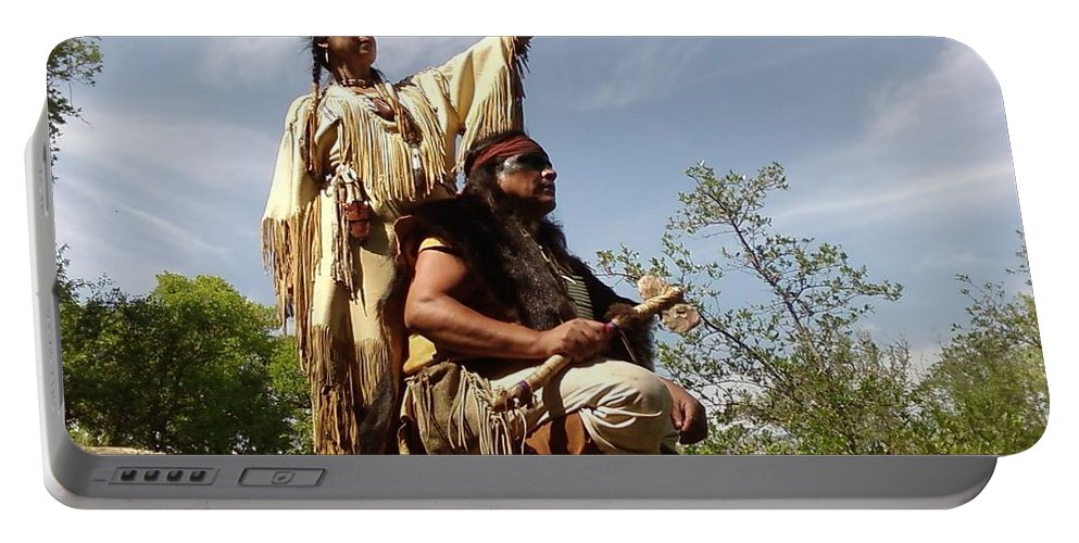 Indian Maiden Scout Indians Portable Battery Charger featuring the photograph Thats Where I Saw The White Man by Cindy New