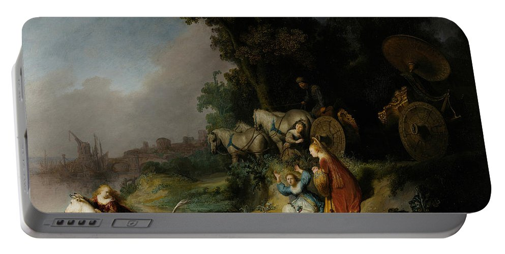 Rembrandt Portable Battery Charger featuring the painting The Abduction Of Europa by Rembrandt
