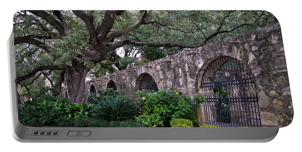 Tree Portable Battery Charger featuring the photograph The Alamo Oak by David and Carol Kelly