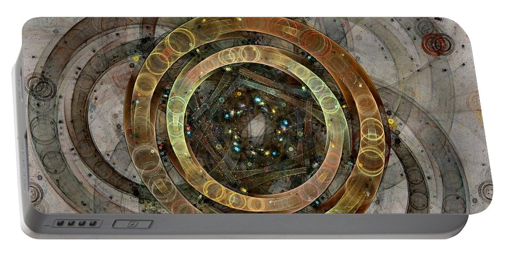 Circles Portable Battery Charger featuring the digital art The Almagest - Homage To Ptolemy - Fractal Art by NirvanaBlues