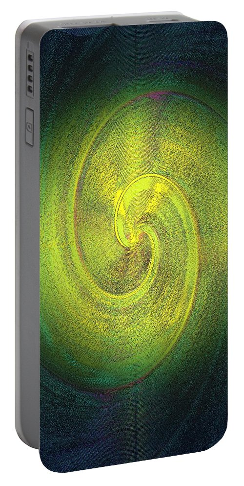 Grossdrucke Portable Battery Charger featuring the digital art The Alternate Idea by Helmut Rottler