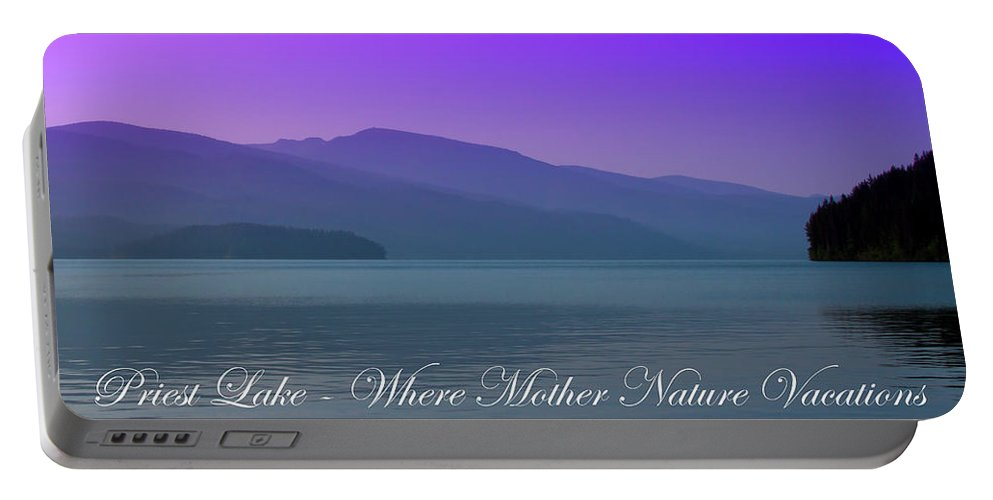 Landscapes Portable Battery Charger featuring the photograph The Amazing Priest Lake by David Patterson