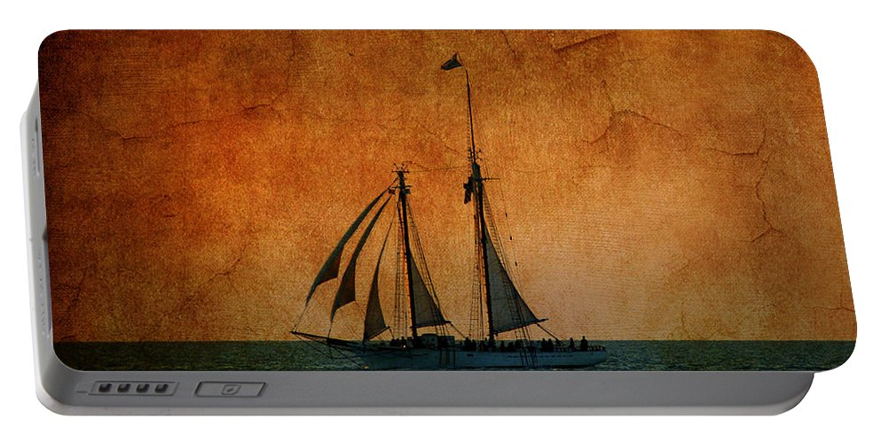 The America Portable Battery Charger featuring the photograph The America In Key West by Susanne Van Hulst