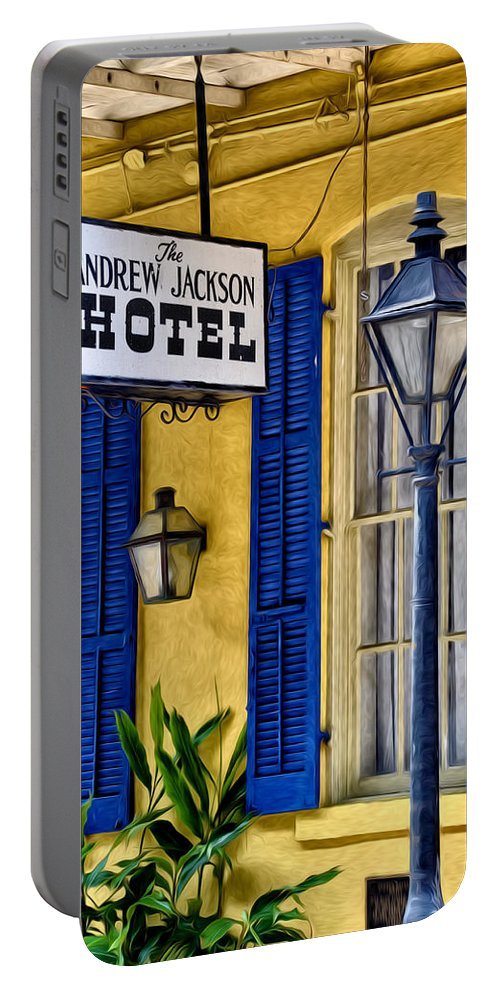 The Andrew Jackson Hotel - New Orleans Portable Battery Charger featuring the photograph The Andrew Jackson Hotel - New Orleans by Bill Cannon