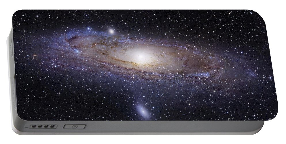 Andromeda Portable Battery Charger featuring the photograph The Andromeda Galaxy by Robert Gendler