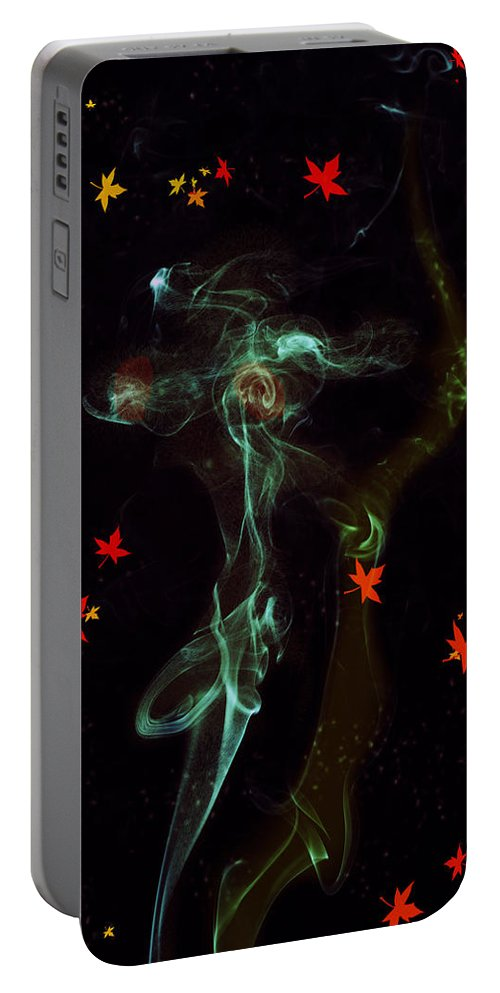 Smoke Portable Battery Charger featuring the photograph The Angel by Kiran Joshi
