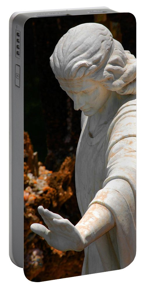 Angels Portable Battery Charger featuring the photograph The Angels Warning by Susanne Van Hulst