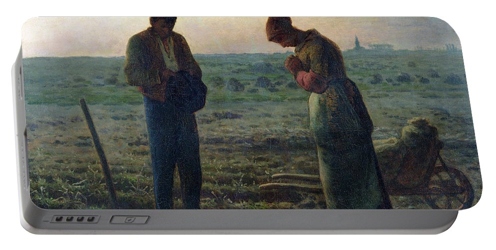 The Portable Battery Charger featuring the painting The Angelus by Jean-Francois Millet