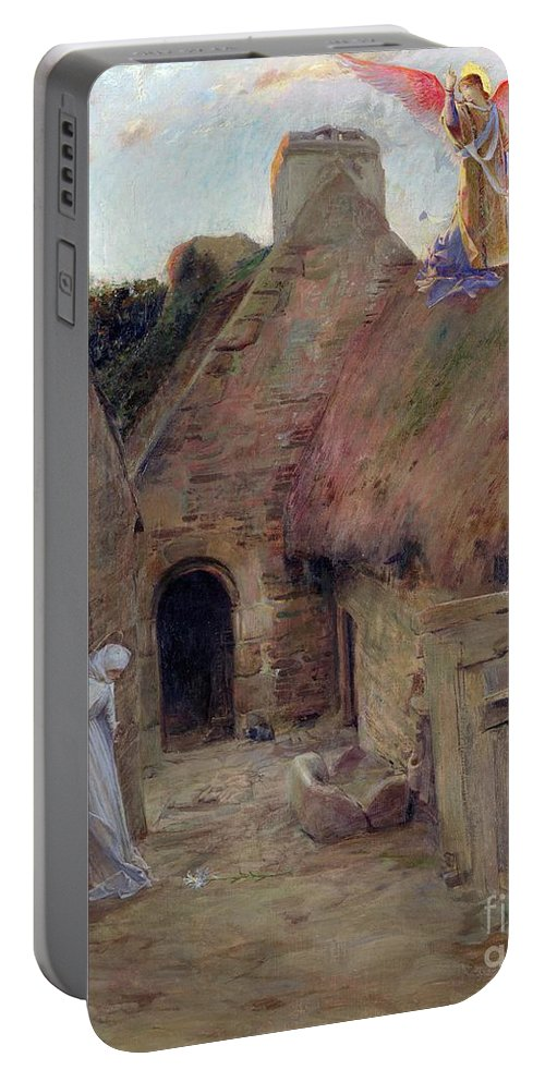 The Annunciation Portable Battery Charger featuring the painting The Annunciation by Luc Oliver Merson