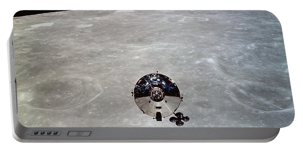 Crater Portable Battery Charger featuring the photograph The Apollo 10 Command And Service by Stocktrek Images