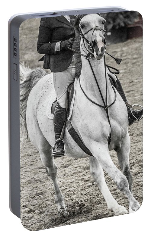 Horse Portable Battery Charger featuring the photograph The Approach Show Jumping by Betsy Knapp