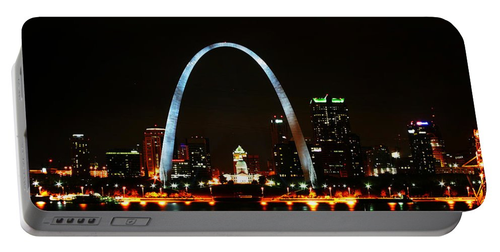 St Louis Portable Battery Charger featuring the photograph The Arch by Anthony Jones