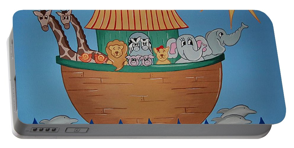 Ark Portable Battery Charger featuring the painting The Ark by Valerie Carpenter