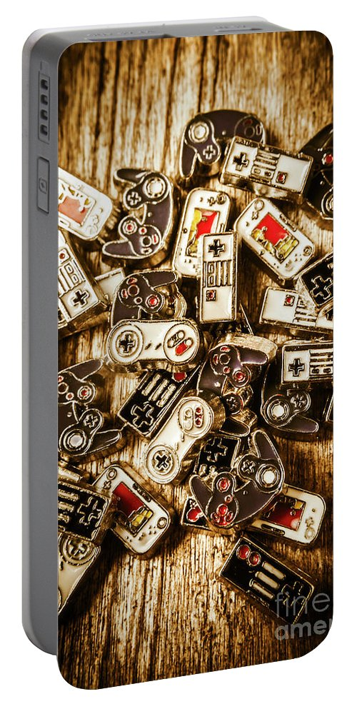 Games Portable Battery Charger featuring the photograph The Art Of Antique Games by Jorgo Photography - Wall Art Gallery