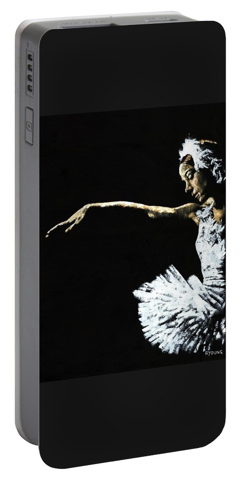 Ballet Portable Battery Charger featuring the painting The Art of Grace by Richard Young