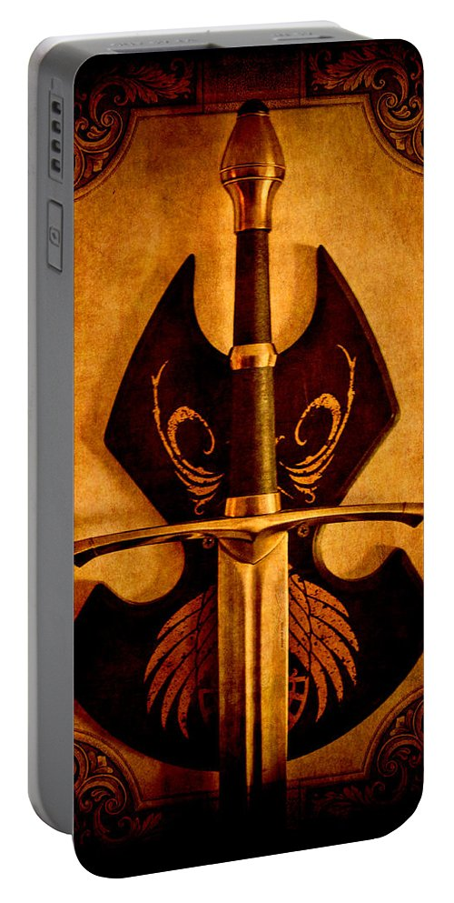 Loriental Portable Battery Charger featuring the photograph The Art Of War - Eternal Portrait Of A Warrior by Loriental Photography