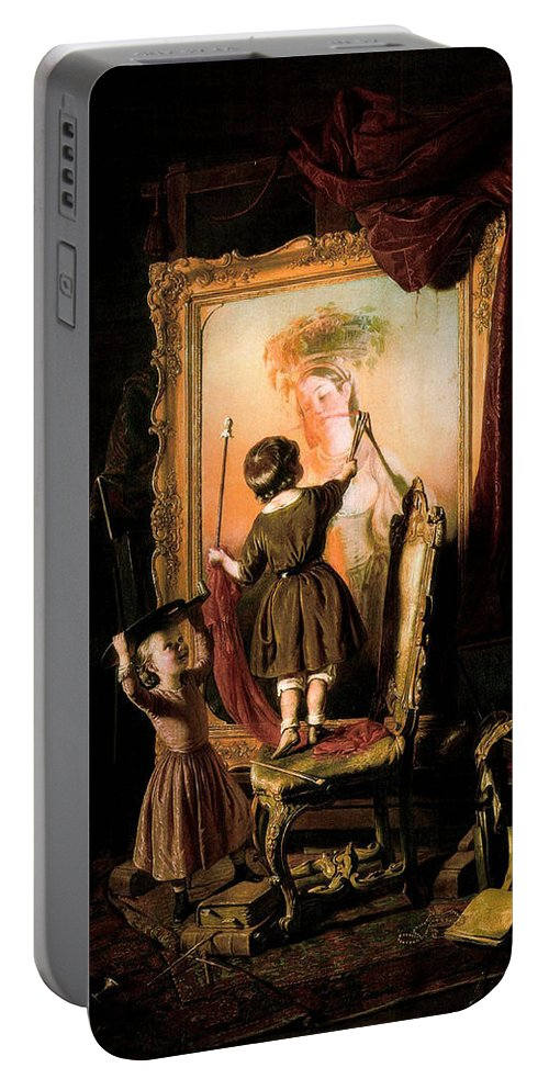 Painting Portable Battery Charger featuring the painting The Artist's Dream by Mountain Dreams