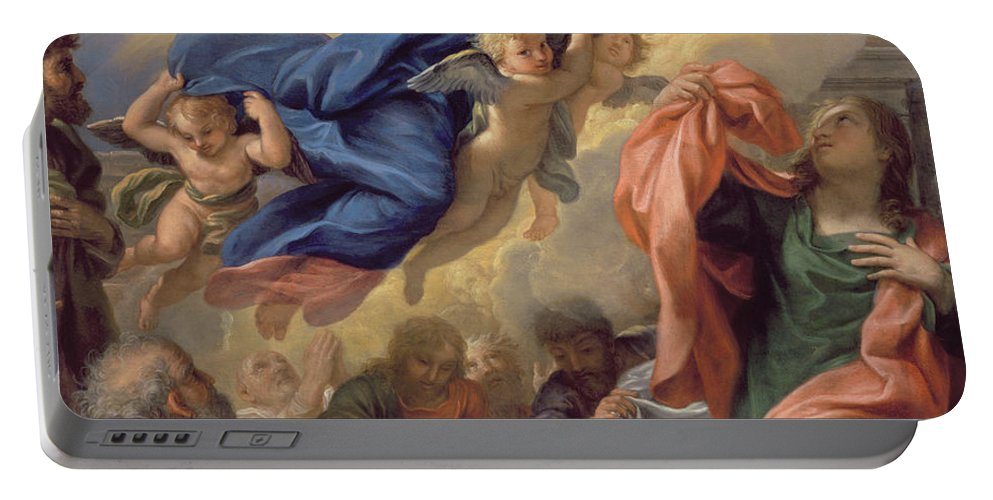 The Portable Battery Charger featuring the painting The Assumption Of The Virgin by Guillaume Courtois