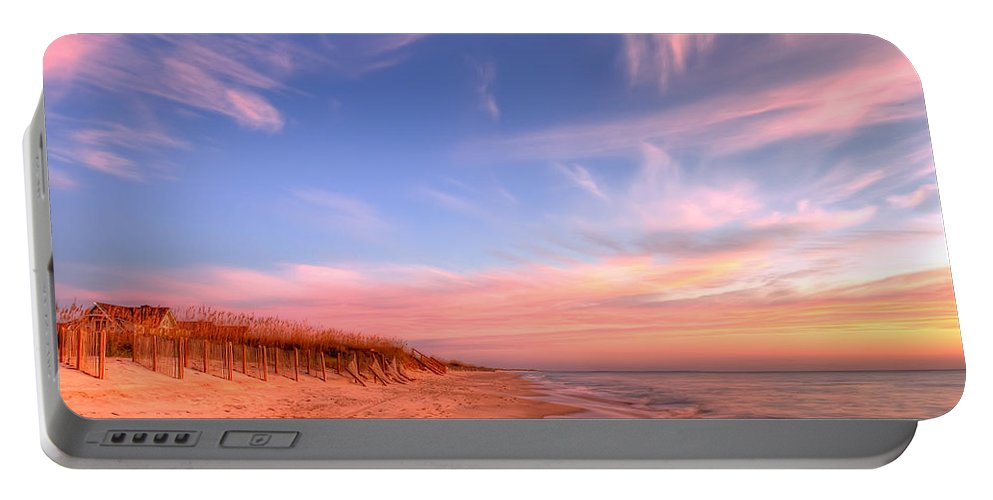 Beach Portable Battery Charger featuring the photograph The Atlantic Coast At Sunrise by Rich Leighton