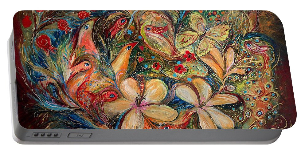 Original Portable Battery Charger featuring the painting The Autumn Wind by Elena Kotliarker