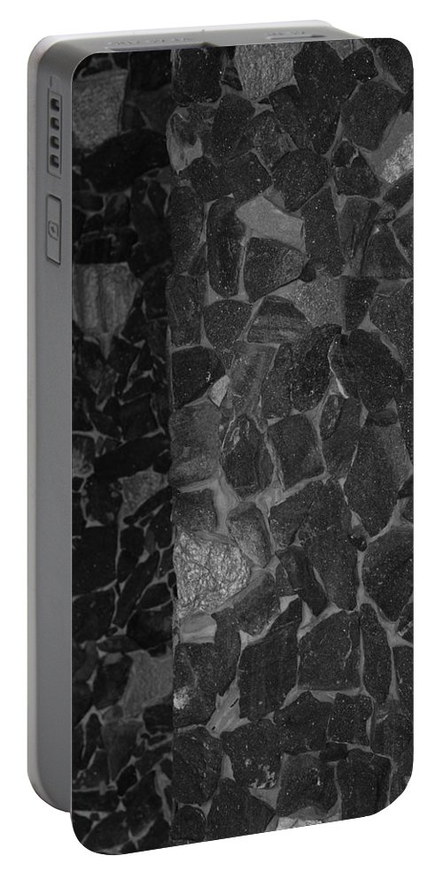 Black And White Portable Battery Charger featuring the photograph The B And W Wall by Rob Hans