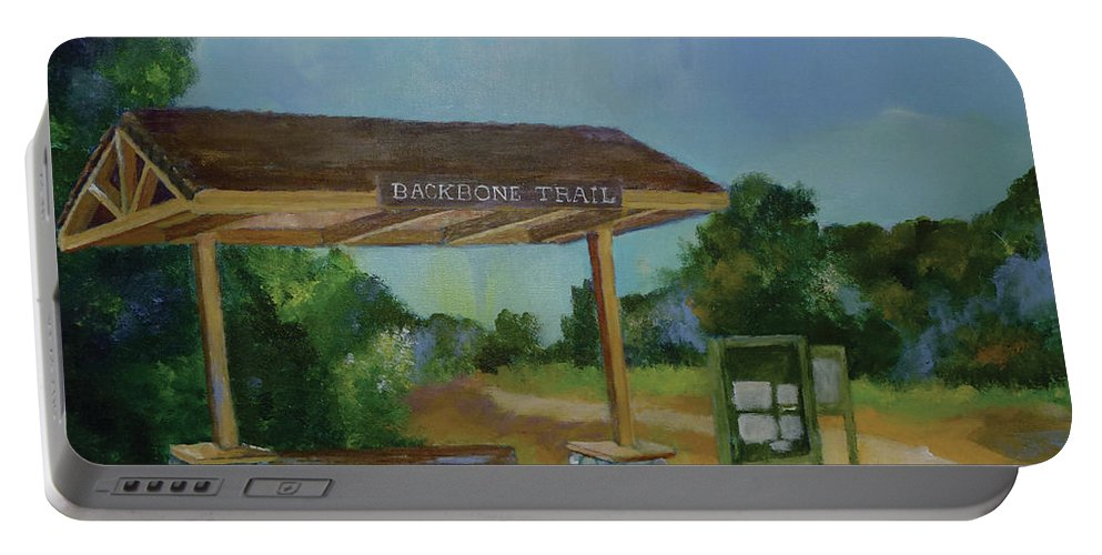 Backbone Trail Portable Battery Charger featuring the painting The Backbone Trail by Stacey Best