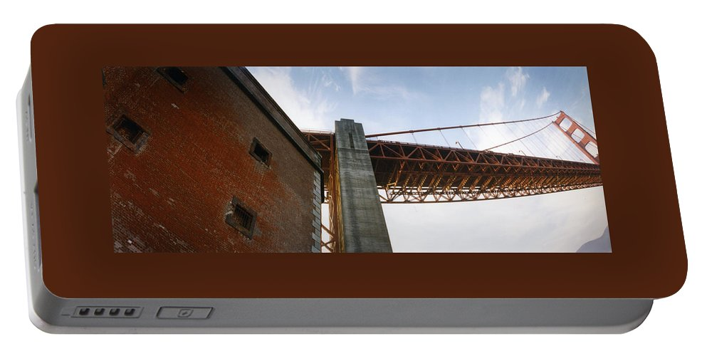 Fort Point Portable Battery Charger featuring the photograph The Ballet Of Red by Patty Sokolecki-Smoot