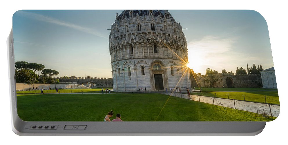 Battistero Portable Battery Charger featuring the photograph The Baptistery, Piazza Dei Miracoli by Roelof Nijholt