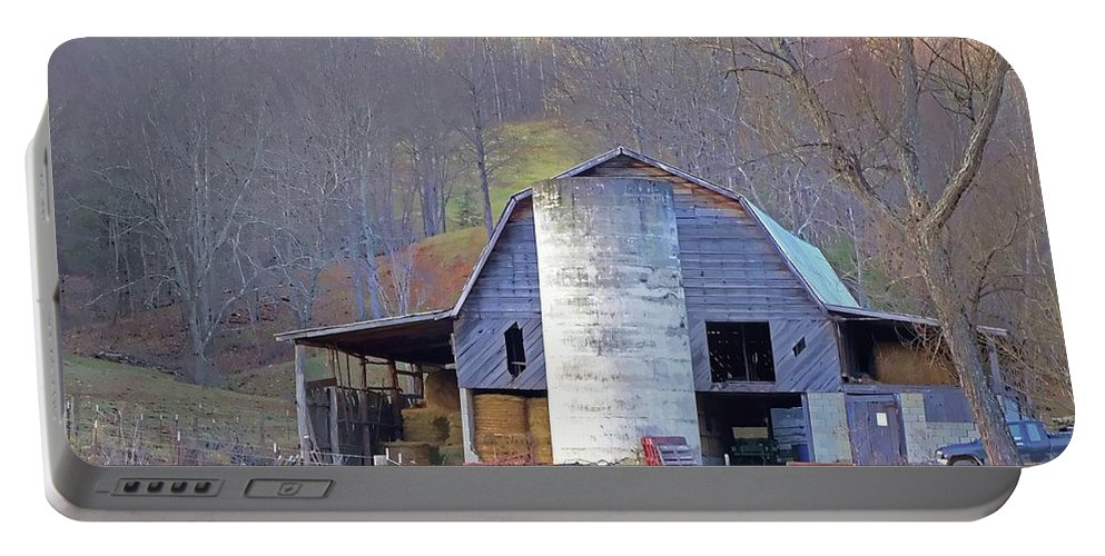 Smokey Mountains Portable Battery Charger featuring the photograph The Barn by Dennis Baswell