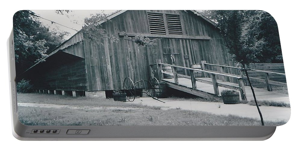Barn Portable Battery Charger featuring the photograph The Barn by Michelle Powell