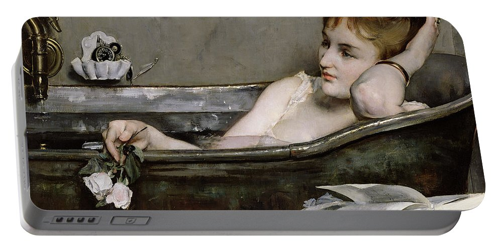 Alfred George Stevens Portable Battery Charger featuring the painting The Bath by Alfred George Stevens