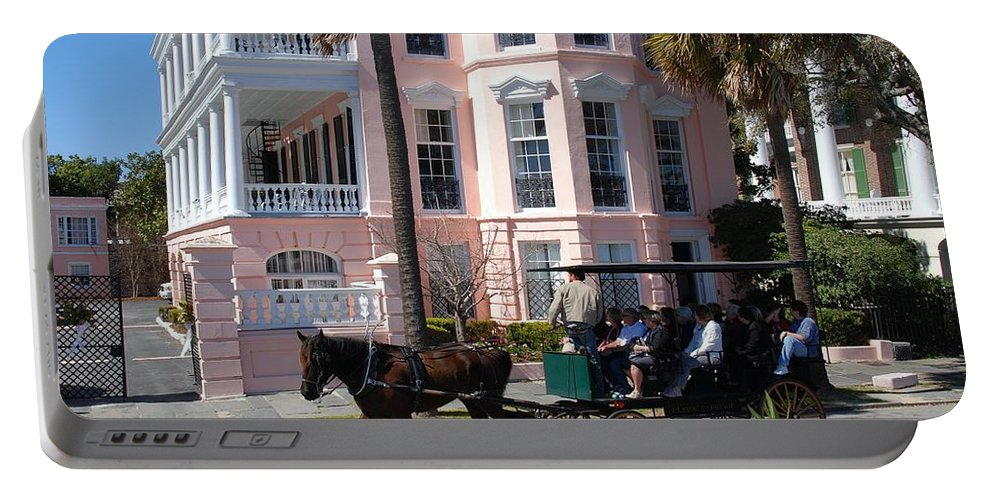 Photography Portable Battery Charger featuring the photograph The Battery In Charleston by Susanne Van Hulst