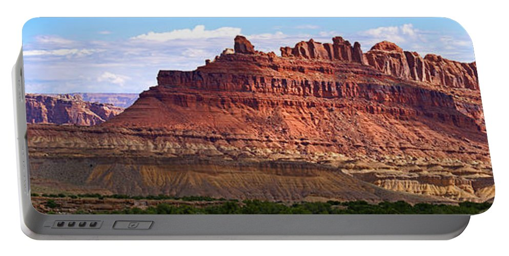 Landscape Utah Portable Battery Charger featuring the photograph The Battleship Utah by Heather Coen