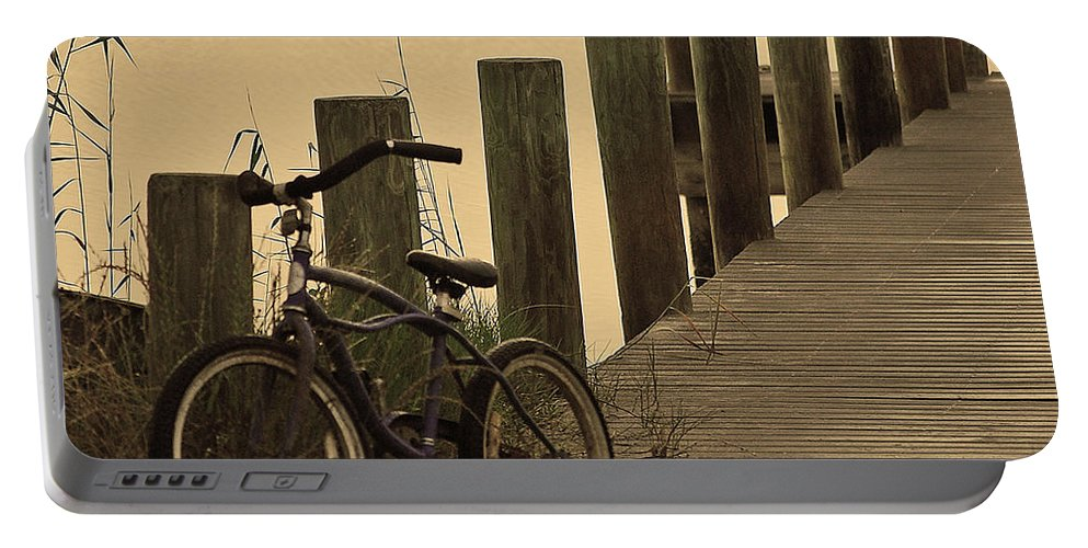 Bike Portable Battery Charger featuring the photograph The Beach Comber by Robert Meanor