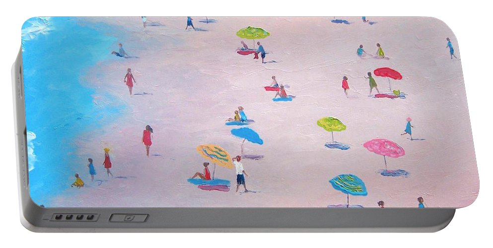 Beach Portable Battery Charger featuring the painting The Beach by Jan Matson