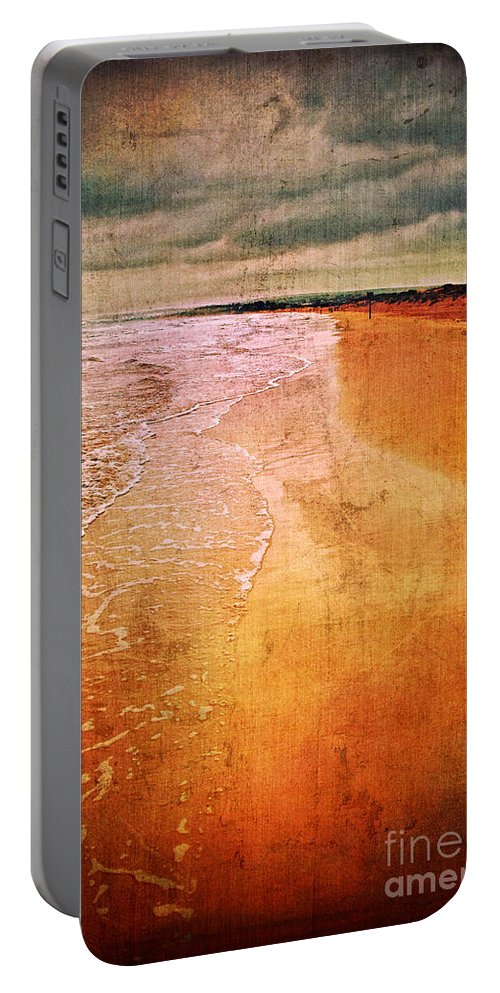 Waves Portable Battery Charger featuring the photograph The Beach by Silvia Ganora