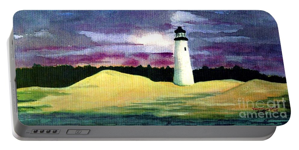 Fine Art Portable Battery Charger featuring the painting The Beacon by Patricia Griffin Brett