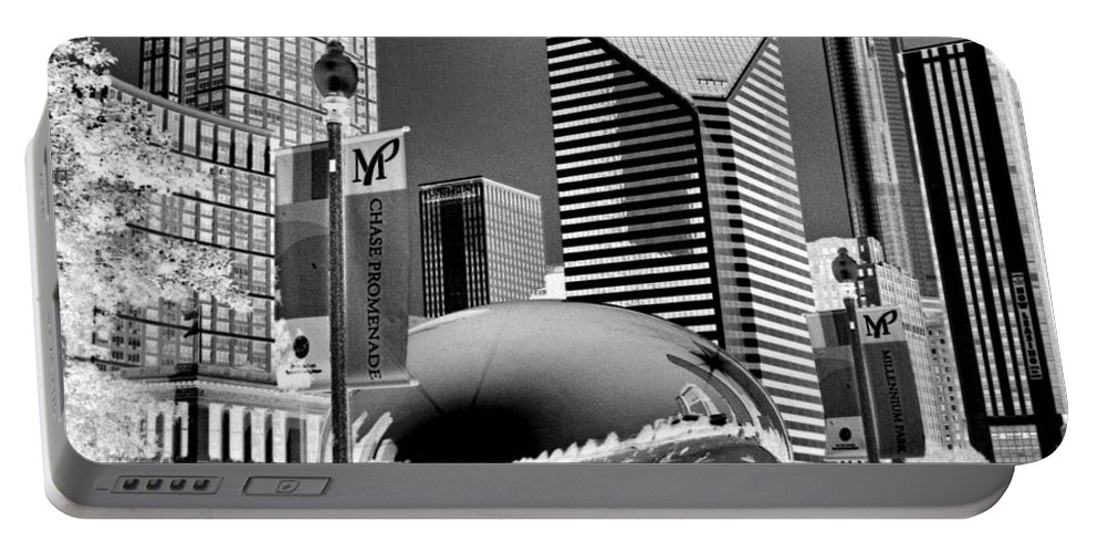 The Bean Portable Battery Charger featuring the photograph The Bean - 2 by Ely Arsha