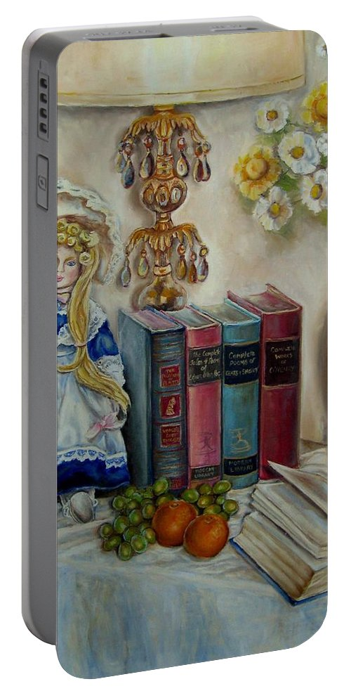 The Beatitudes Portable Battery Charger featuring the painting The Beatitudes by Carole Spandau