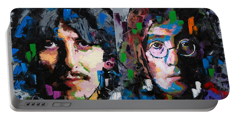 The Beatles Portable Battery Charger featuring the painting The Beatles by Richard Day