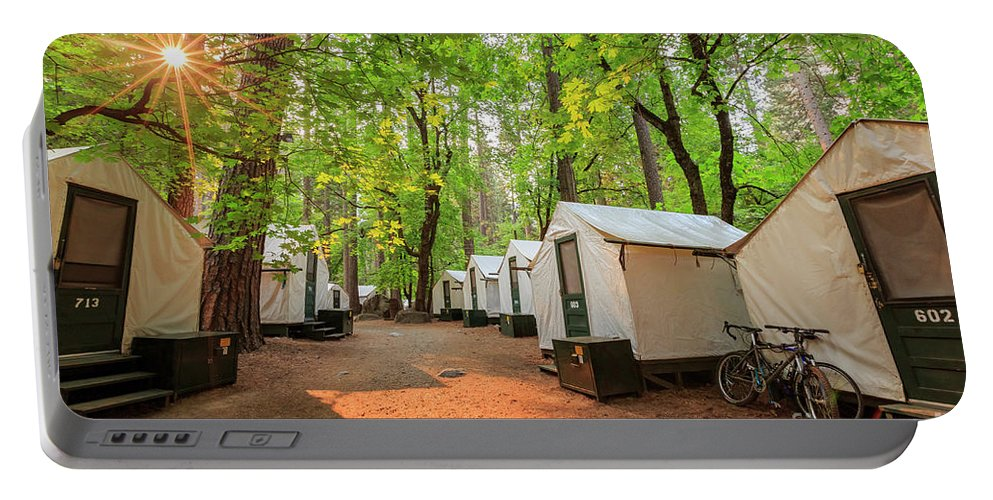 Half Dome Village Portable Battery Charger featuring the photograph The Beautiful Half Dome Village by Chon Kit Leong