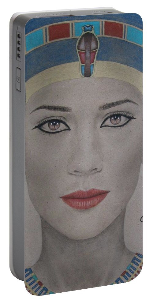 Woman Portable Battery Charger featuring the painting The Beautiful One Has Come by Lynet McDonald