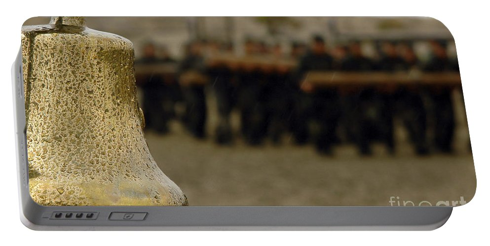 Single Object Portable Battery Charger featuring the photograph The Bell Is Present On The Beach by Stocktrek Images