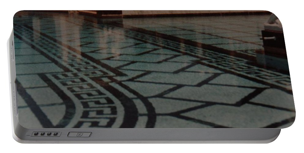Sculpture Portable Battery Charger featuring the photograph The Biggest Pool by Rob Hans