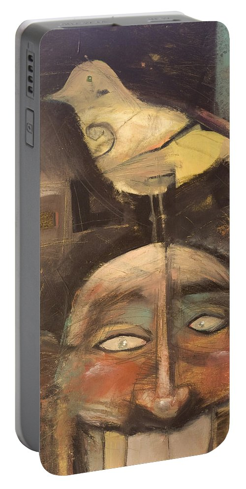 Bird Portable Battery Charger featuring the painting The Birdman Of Alcatraz by Tim Nyberg