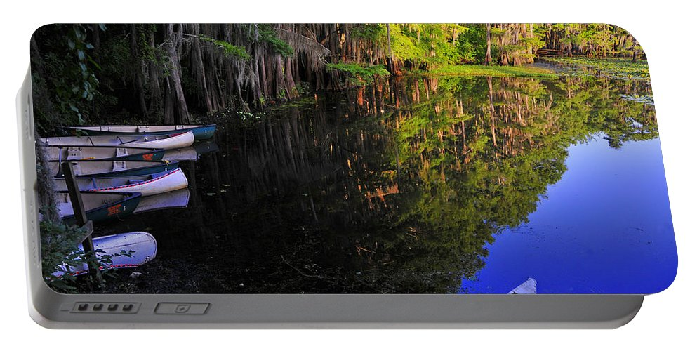 Skip Hunt Portable Battery Charger featuring the photograph The Black Lagoon by Skip Hunt