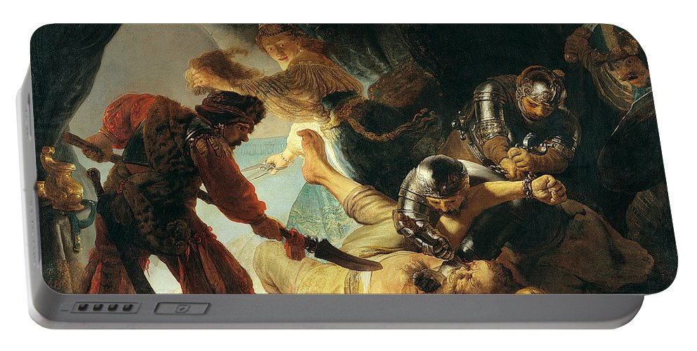 Rembrandt Portable Battery Charger featuring the painting The Blinding Of Samson by Rembrandt